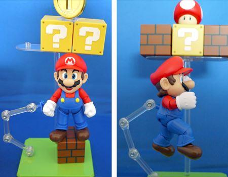 左が支柱で先についている青いのが交換パーツです。これでジャンプマリオを再現できます!