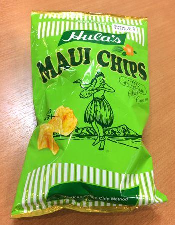 そして最後は筆者のお気に入り、フラ マウイチップス「ハワイアンサワークリーム味」