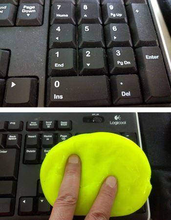 ホコリまみれのキーボードに、ペッタンコ