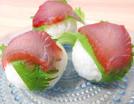 手まり寿司風に盛りつけてみました