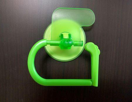 吸盤式のトイレットペーパーホルダー