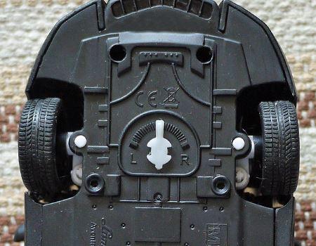 左右のハンドルの曲がり具合はうしろで調整できます