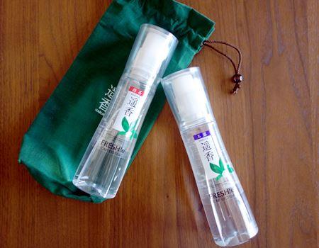 新・プレミアム日本茶 遥香(HARUKA)。左が抹茶で、右が玉露です