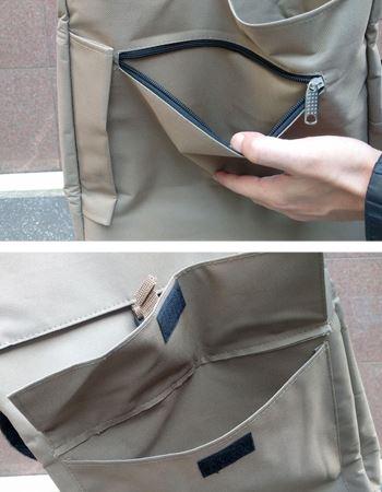 外側に2個のポケット付き!