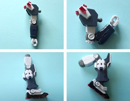 最新ガンプラらしく、手足はきれいに可動します