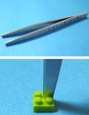 専用ピンセットはポッチをつまめるのでとても便利です