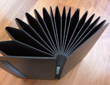 本は反対側に360度広がります