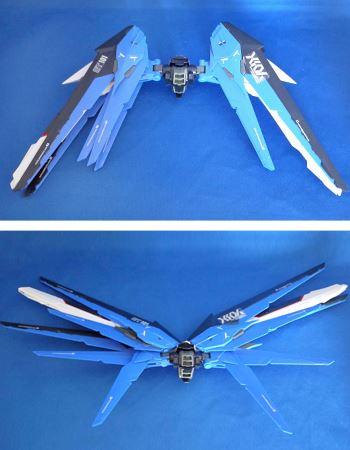 そして注目の翼。大きく可動します