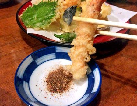 天ぷらにもばっちり合います! 粉末なので衣がサクサクのまま♪