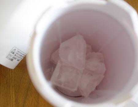 氷は家庭のバラ氷でOK