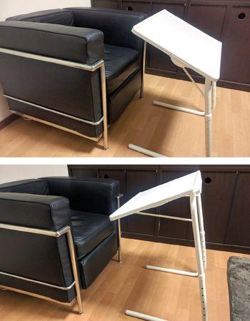 テーブルの角度も3段階に調節できます
