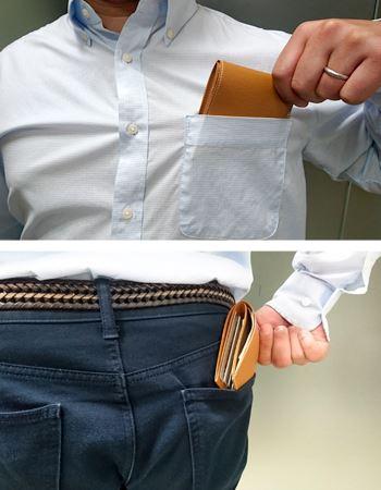 シャツやパンツのポケットにもすっぽり入ってゴワつきません