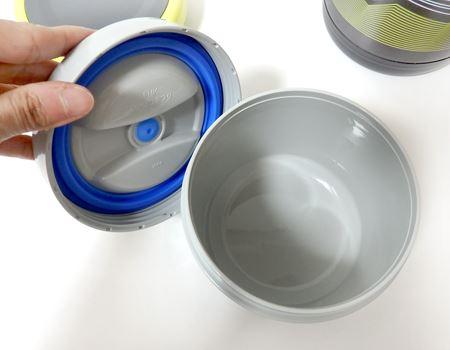 中の容器が断熱性のある樹脂製の容器になった二重構造