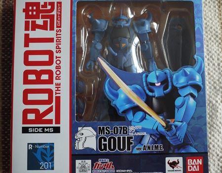 アニメ準拠で再現された可動フィギュアシリーズ「ROBOT魂 MS-07B グフ ver. A.N.I.M.E.」です