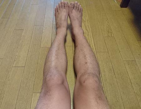 これがアラフォーのおっさんの足だ!