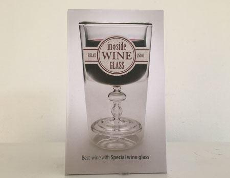 RELAXの「ダブルレイヤーグラス インサイドワイン」