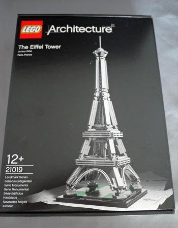 おしゃれなパッケージのアーキテクチャーシリーズから「エッフェル塔」です