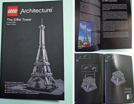 小冊子なみのボリュームがあるマニュアル。実際の建築物紹介と組み立て図になっています