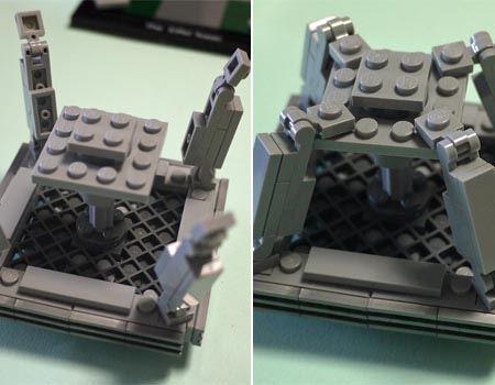 鉄塔の骨組みはこのようにブロックを組み合わせて作っていきます