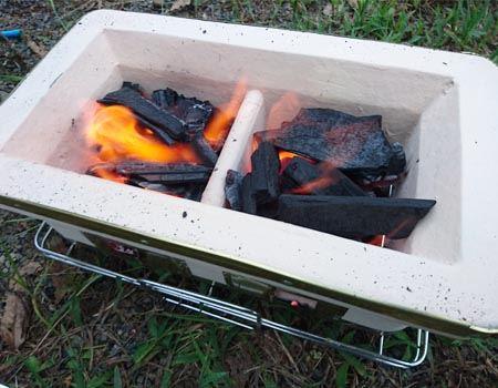 火おこしも楽しいんですよね
