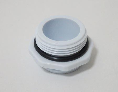 内ネジ用アダプター(その1)。直径23ミリ、取り付けネジW23×山20。適用蛇口メーカー:KVK、TOTO、INAX等