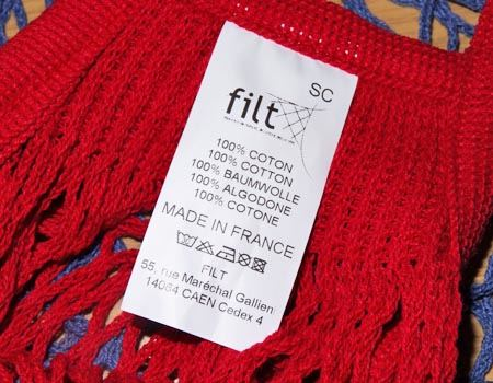 100%COTONのMADE IN FRANCEです