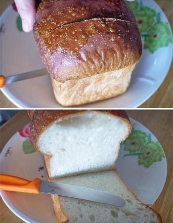 焼きたての山形食パンでもパリパリの表面ともっちりした中身が崩れることなくきれいにカットできますよ