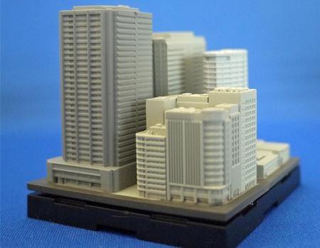 単色なビル群ですが、組み合わせることで都市っぽく見えてきます