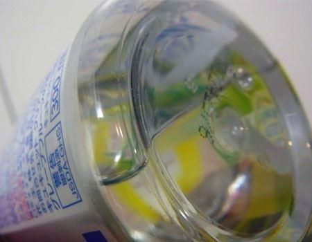 ちなみに中に入っているのは液体です。これが泡になるのでしょうか