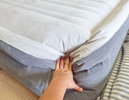 寝心地は空気のいれる量で調節できそう
