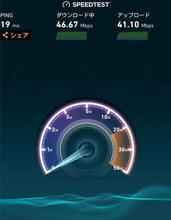 以前使用していた無線LANルーターの速度結果です