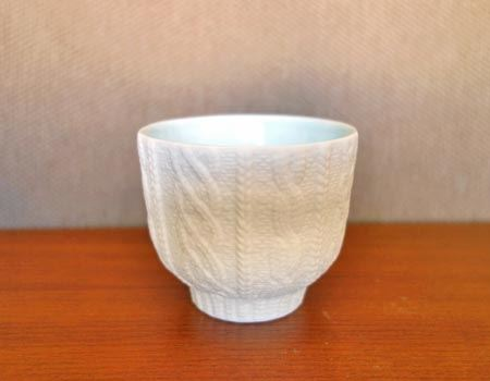 Trace Face Cup ニットウェア ブルー