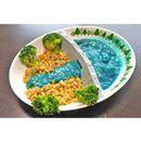 ダムカレー皿と青いカレーでリアルすぎるダムカレーを作ってみた