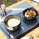 カセットコンロ感覚で複数の料理が楽しめる「レギュレーター2バーナー GRID」が便利!