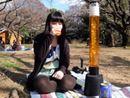 3Lのビールサーバーを使って1人で花見をしてみた