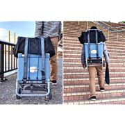 いざというとき「背負える」キャリーカートで荷物運びが2倍ラクに!