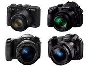 高倍率ズームレンズ搭載の1インチデジカメ4機種を比較