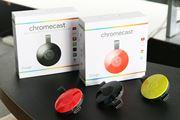 新しい「Chromecast」は円形でWi-Fi機能がパワーアップ! スピーカーにつなげる「Chromecast Audio」も登場