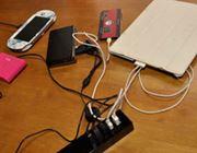 スマホもタブレットも同時充電! マジで捗る5口USBタップ