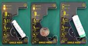 電源不要!コイン電池、充電池も測れる残量チェッカー