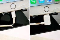 充電ケーブルが「L字型」になるだけで、断線の不安とオサラバ!