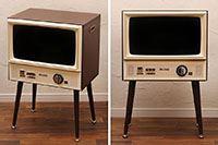ブラウン管テレビのようなビンテージ調デザインの液晶テレビ「VT203-BR」が自宅に来た!