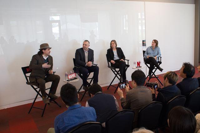 Netflixとマーベル・スタジオの製作面もインタビュー