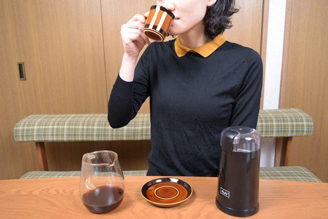 テイスティングは筆者よりもコーヒーにくわしい妻とともに
