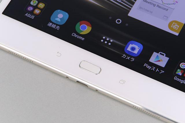 iPadと同じく、ホームボタン上に指紋センサーを搭載する