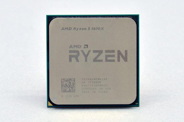 6コア/12スレッドのRyzen 5 1600X。動作クロックは3.6GHz/4.0GHzで、TDPは95Wだ