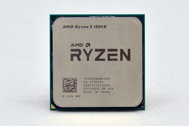 4コア/8スレッドのRyzen 5 1600X。動作クロックは3.5GHz/3.7GHzで、TDPは65W