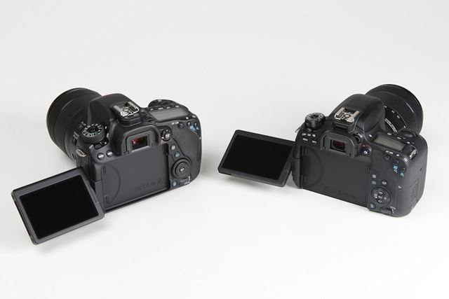 EOS 80DとEOS 9000Dともにバリアングル液晶モニターを採用する
