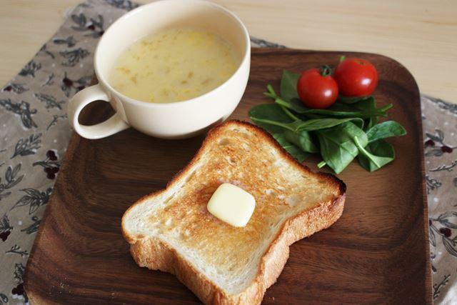 普段食べている朝食も、パンのおいしさが向上するだけで極上感が味わえます