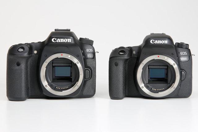 EOS 80D、EOS 9000Dともに有効約2420万画素の撮像素子(APS-Cサイズ)を採用している
